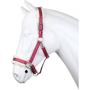 halster met bont roze